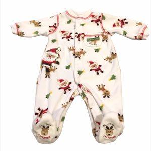 Carter's My 1st Christmas Footie Pajamas, White